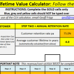 Free download of the customer lifetime value Excel template